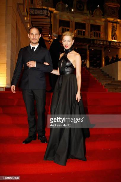 Actor Clemens Schick and actress Amber Heard attend the Montblanc international gala to celebrate the official opening of its new and biggest concept...