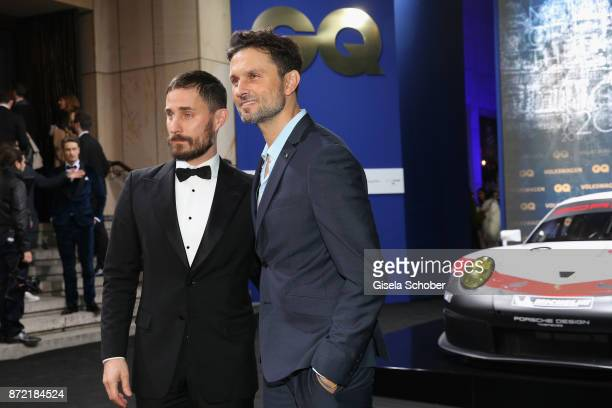 Actor Clemens Schick and film director Simon Verhoeven arrives for the GQ Men of the year Award 2017 at Komische Oper on November 9 2017 in Berlin...