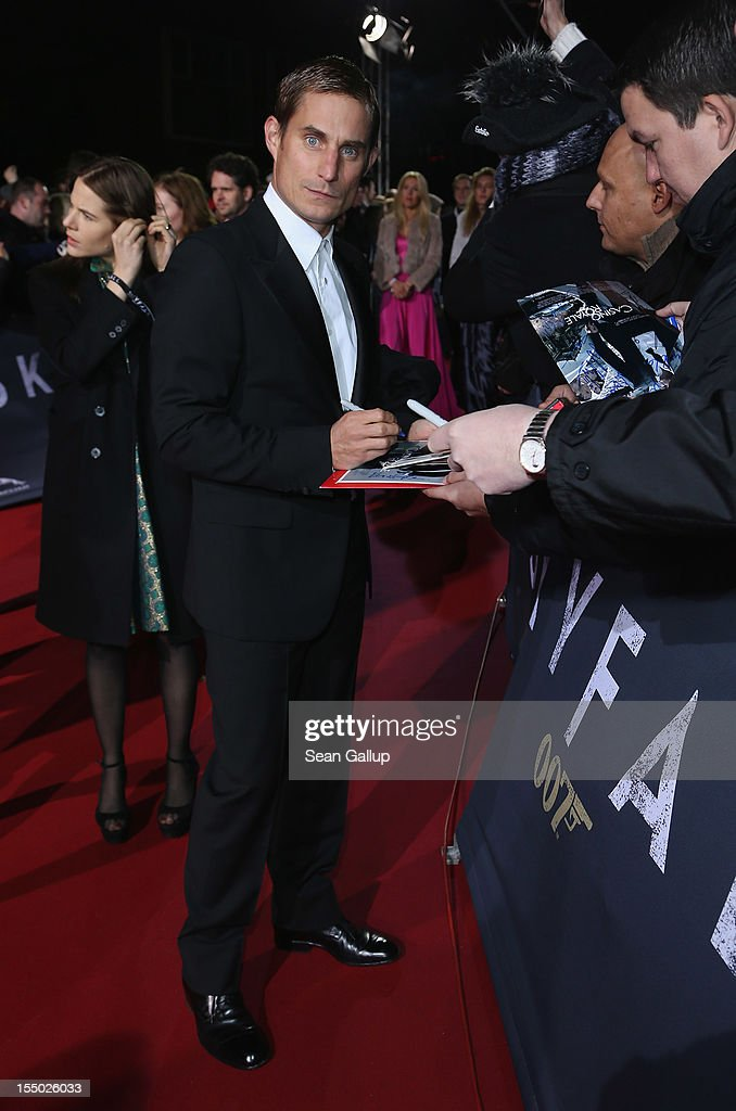Actor <a gi-track='captionPersonalityLinkClicked' href=/galleries/search?phrase=Clemens+Schick&family=editorial&specificpeople=4029135 ng-click='$event.stopPropagation()'>Clemens Schick</a> attends the Germany premiere of 'Skyfall' at the Theater am Potsdamer Platz on October 30, 2012 in Berlin, Germany.