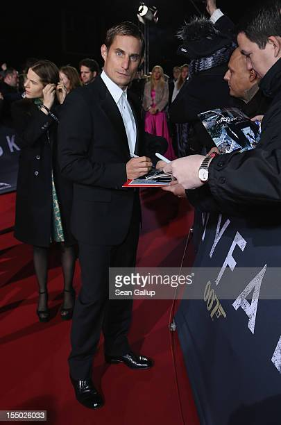 Actor Clemens Schick attends the Germany premiere of 'Skyfall' at the Theater am Potsdamer Platz on October 30 2012 in Berlin Germany