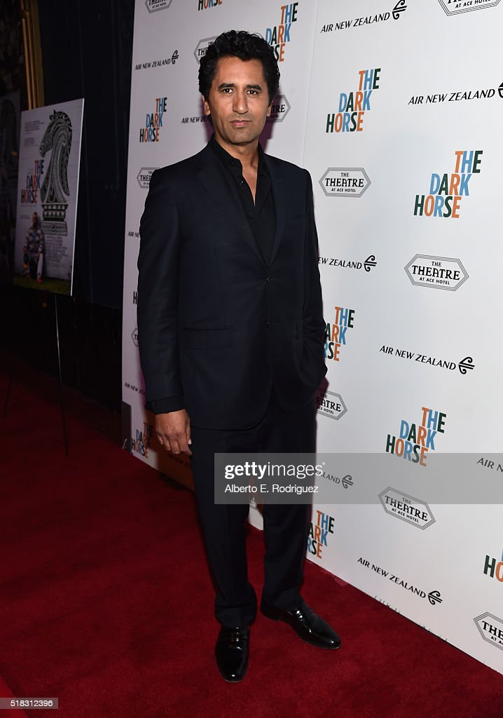 Actor Cliff Curtis attends the premiere of 'The Dark Horse' hosted by James Cameron at Ace Theater Downtown LA on March 30, 2016 in Los Angeles, California.