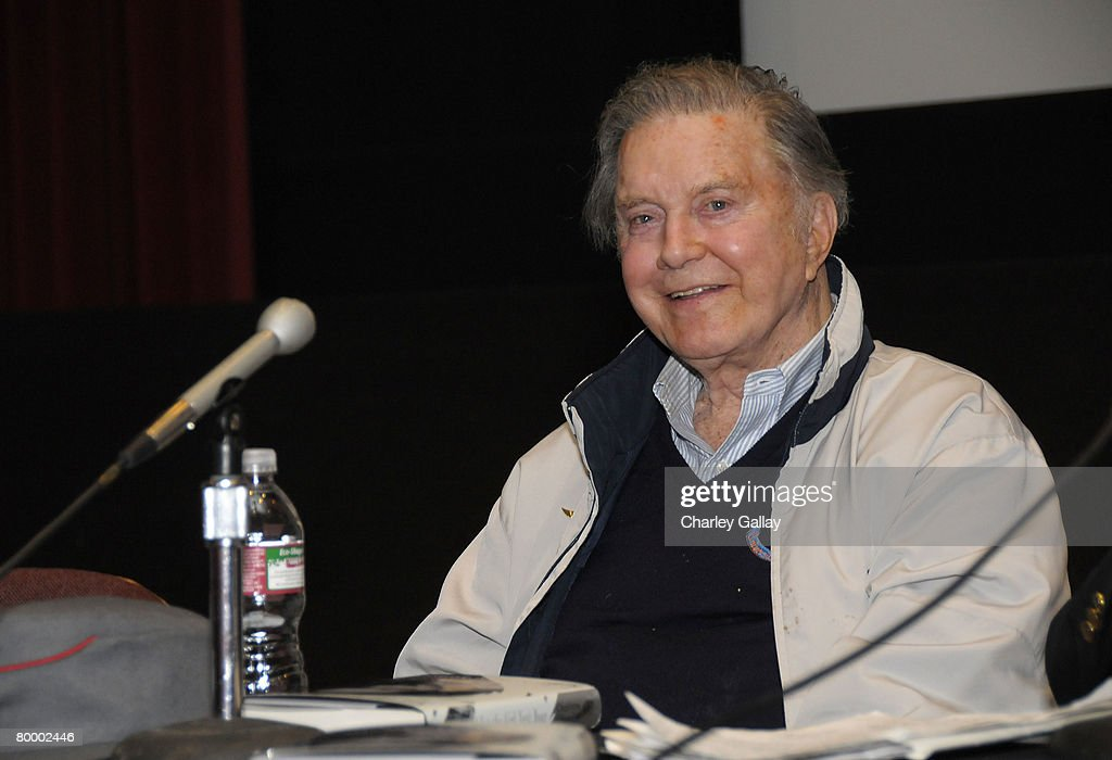 Actor Cliff Robertson speaks during the 'UCLA Tribute to Screen Legend Joan Crawford' at the James Bridges Theater February 25, 2008 in Los Angeles, California.