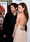 Actor Clifton Collins Jr and actress Francesca Eastwood arrive at the premiere of Momentum Pictures' 'Outlaws and Angels' at the Ahrya Fine Arts...