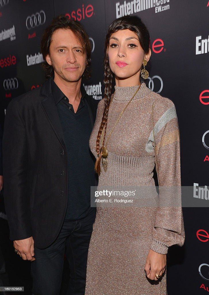 Actor Clifton Collins Jr. (L) and Diana Garcia attend the Entertainment Weekly Pre-SAG Party hosted by Essie and Audi held at Chateau Marmont on January 26, 2013 in Los Angeles, California.