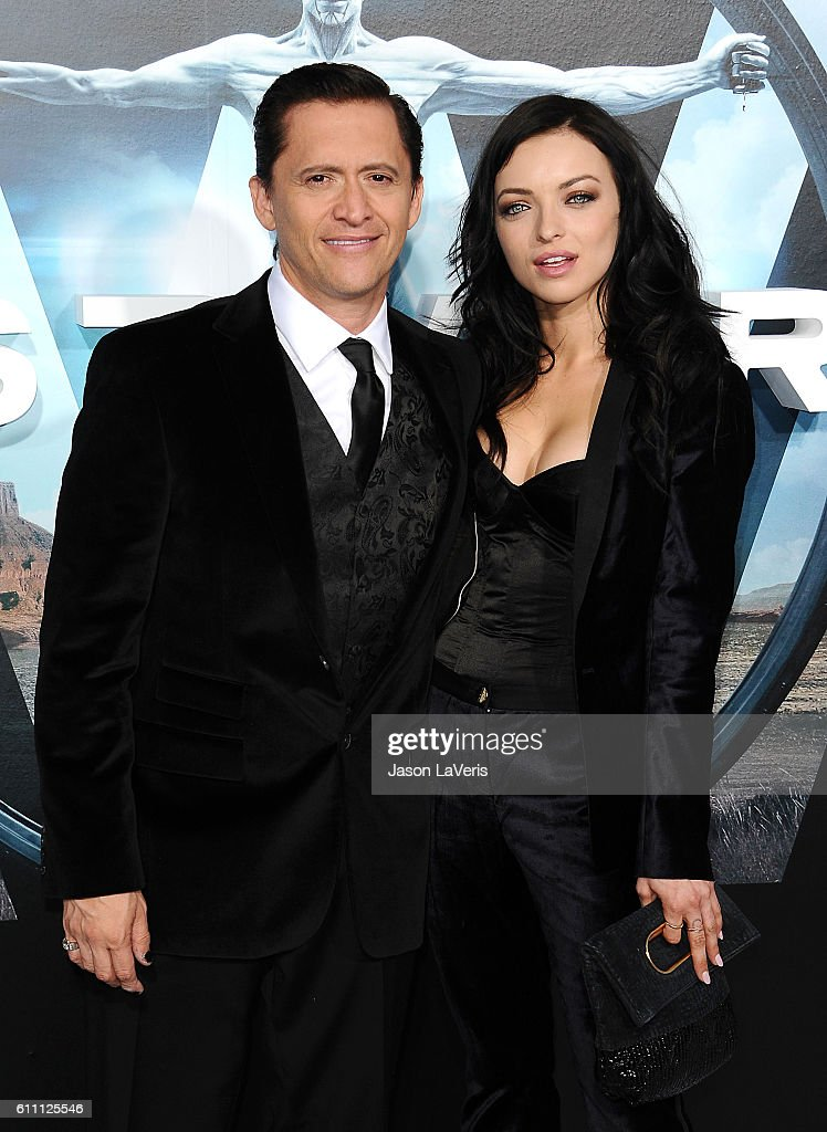 Actor Clifton Collins Jr. and Francesca Eastwood attend the premiere of 'Westworld' at TCL Chinese Theatre on September 28, 2016 in Hollywood, California.