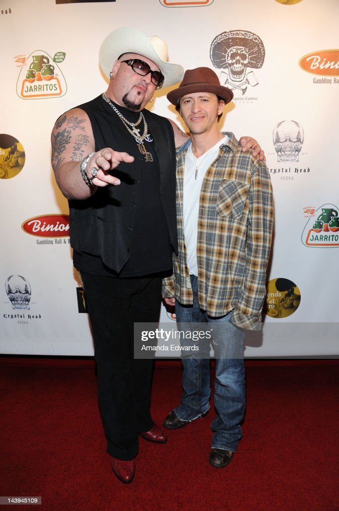 Actor <a gi-track='captionPersonalityLinkClicked' href=/galleries/search?phrase=Clifton+Collins+Jr.&family=editorial&specificpeople=540063 ng-click='$event.stopPropagation()'>Clifton Collins Jr.</a> (R) and Velvet Margarita owner Carlos Adley (aka Big Daddy Carlos) arrive at the 8th Annual Cinco de Mayo Benefit With Charity Celebrity Poker Tournament at Velvet Margarita Cantina on May 5, 2012 in Hollywood, California.