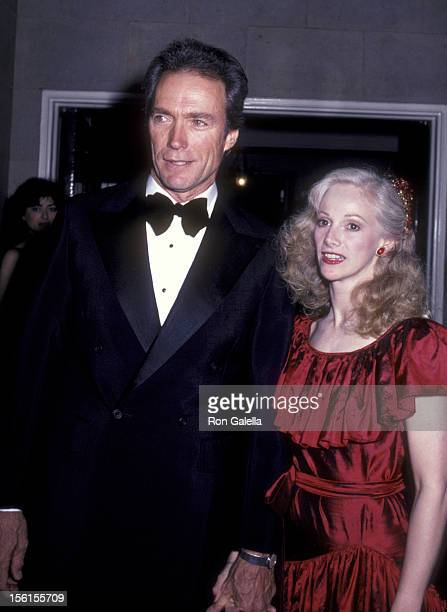 Actor Clint Eastwood and actress Sondra Locke attend the premiere party for 'Firefox' on June 14 1982 at the Pierre Hotel in New York City