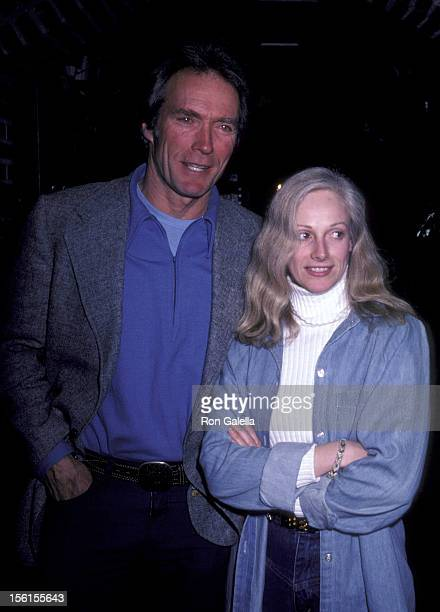 Actor Clint Eastwood and actress Sondra Locke sighted on January 14 1982 at Adriano's Restaurant in Bel Air California
