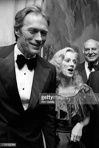 Actor Clint Eastwood and Sondra Locke attend the premiere party for 'Firefox' on June 14 1982 at at the Pierre Hotel in New York City