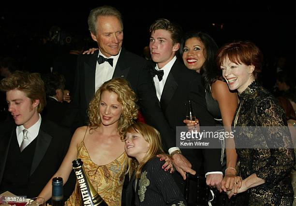 Actor Clint Eastwood and wife Dina Ruiz pose with family and friends during the 9th Annual Screen Actors Guild Awards at the Shrine Auditorium on...
