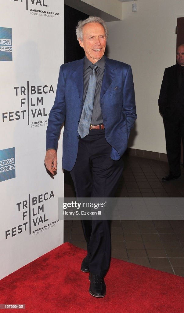 Actor <a gi-track='captionPersonalityLinkClicked' href=/galleries/search?phrase=Clint+Eastwood&family=editorial&specificpeople=201795 ng-click='$event.stopPropagation()'>Clint Eastwood</a> attends the Tribeca Talks: Director's Series during the 2013 Tribeca Film Festival at BMCC Tribeca PAC on April 27, 2013 in New York City.