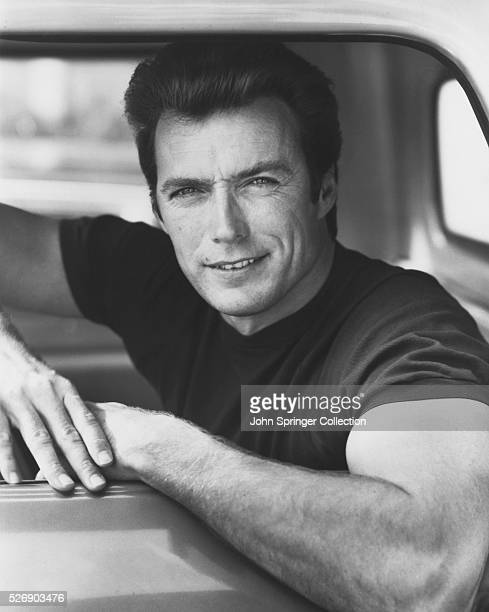 Actor Clint Eastwood in Pickup Truck