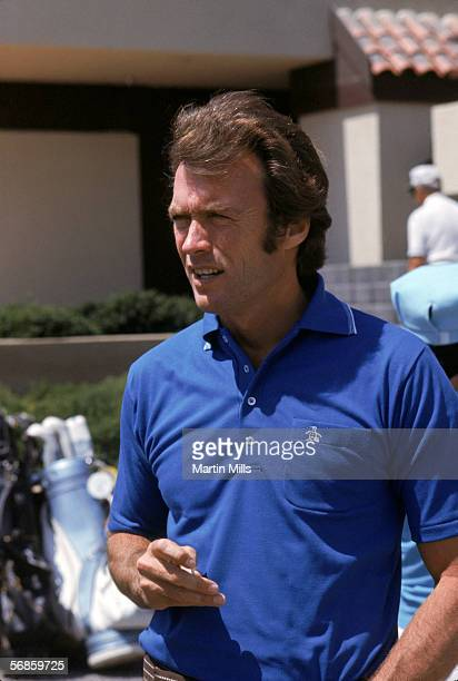 Actor Clint Eastwood looks on during the Dinah Shore Desert Classic golf tournament circa 1970's
