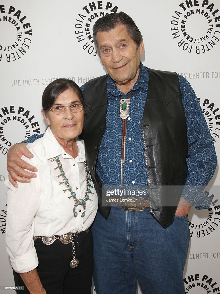Actor Clint Walker and wife Susan Walker attend retro TV action-adventure-thon at The Paley Center for media on September 22, 2012 in Beverly Hills, California.