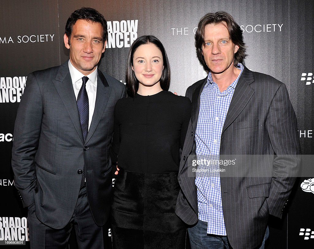 Actor <a gi-track='captionPersonalityLinkClicked' href=/galleries/search?phrase=Clive+Owen&family=editorial&specificpeople=201515 ng-click='$event.stopPropagation()'>Clive Owen</a>, actress <a gi-track='captionPersonalityLinkClicked' href=/galleries/search?phrase=Andrea+Riseborough&family=editorial&specificpeople=4395380 ng-click='$event.stopPropagation()'>Andrea Riseborough</a> and director <a gi-track='captionPersonalityLinkClicked' href=/galleries/search?phrase=James+Marsh&family=editorial&specificpeople=642421 ng-click='$event.stopPropagation()'>James Marsh</a> attend a screening of Magnolia Pictures' 'Shadow Dancer' hosted by The Cinema Society & BlackBerry at Sunshine Landmark on May 30, 2013 in New York City.