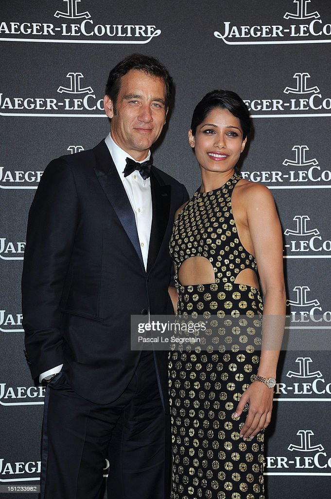 Actor Clive Owen and actress Freida Pinto attend a gala dinner hosted by Jaeger-LeCoultre celebrating The Rendez-Vous Collection at Giustinian Palace in Venice during the 69th Venice Film Festival on September 4, 2012 in Venice, Italy.