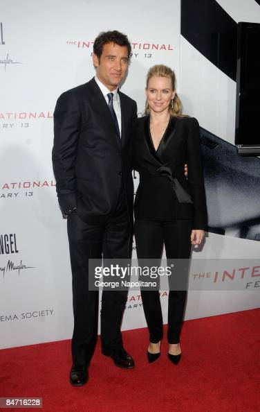 Actor Clive Owen and actress Naomi Watts attend the Cinema Society and Angel by Thierry Mugler screening of 'The International' at AMC Lincoln Square...