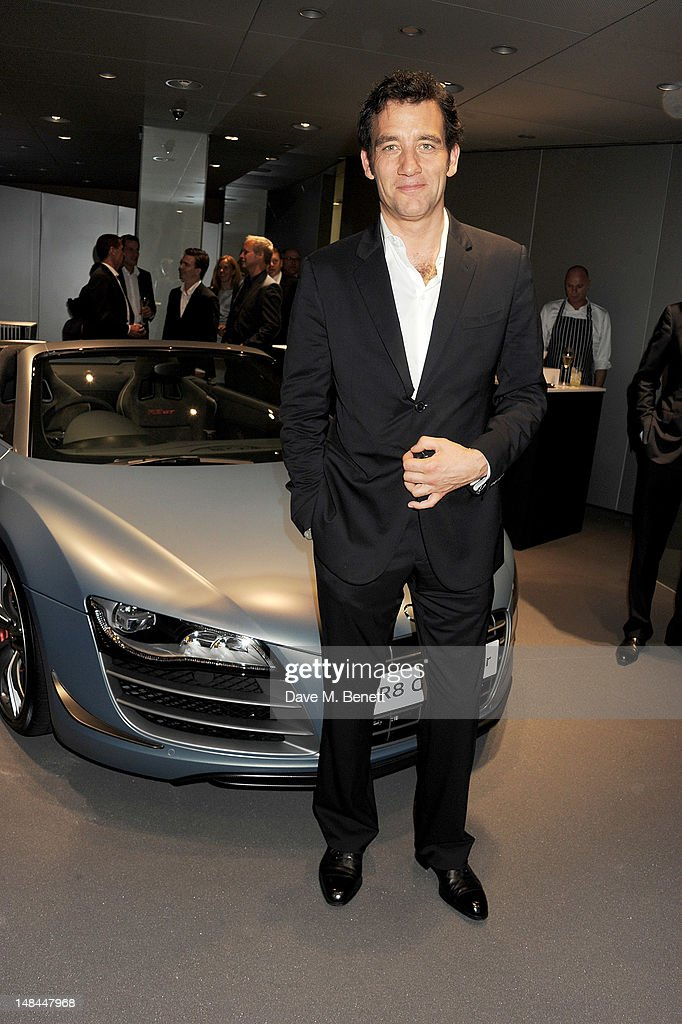 Actor Clive Owen attends a party celebrating the global launch of Audi City, Audi's first digital showroom, featuring an art installation by Chris Cunningham, on July 16, 2012 in London, England.