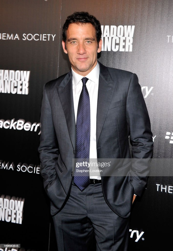 Actor <a gi-track='captionPersonalityLinkClicked' href=/galleries/search?phrase=Clive+Owen&family=editorial&specificpeople=201515 ng-click='$event.stopPropagation()'>Clive Owen</a> attends a screening of Magnolia Pictures' 'Shadow Dancer' hosted by The Cinema Society & BlackBerry at Sunshine Landmark on May 30, 2013 in New York City.