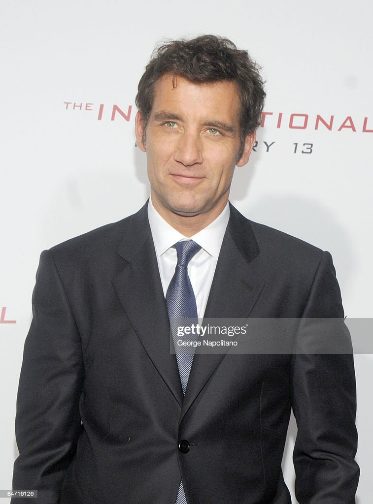 Actor Clive Owen attends the Cinema Society and Angel by Thierry Mugler screening of 'The International' at AMC Lincoln Square on February 9 2009 in...
