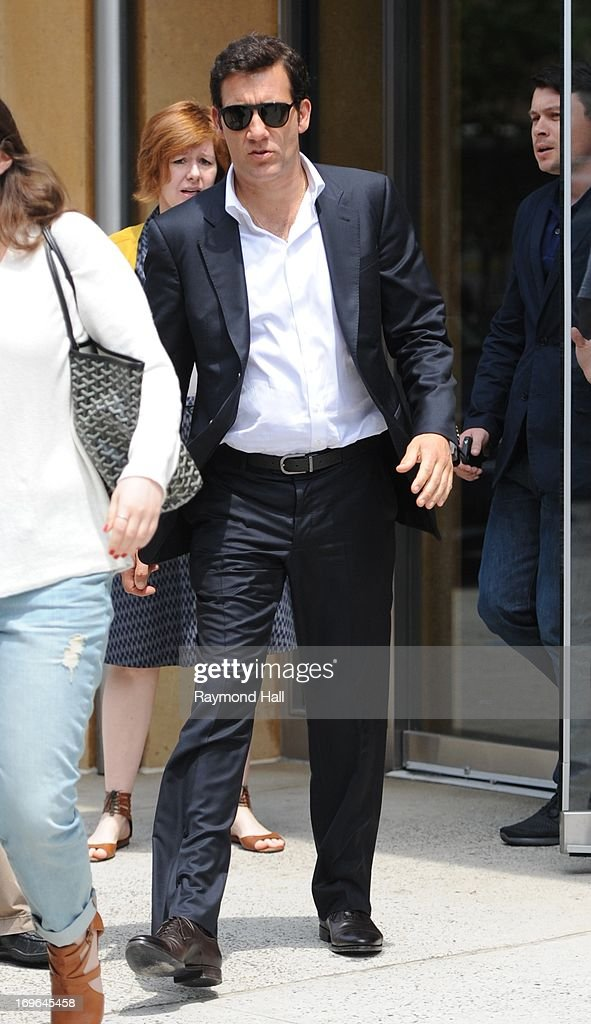 Actor Clive Owen is seen in Soho on May 29, 2013 in New York City.