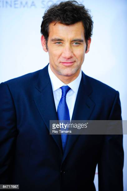 Actor Clive Owens attends the Cinema Society and Angel by Thierry Mugler screening of 'The International' at AMC Lincoln Square on February 9 2009 in...