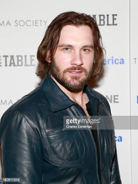 Actor Clive Standen arrives at Bank of America and Food Wine with The Cinema Society present a screening of 'A Place at the Table' at the Celeste...
