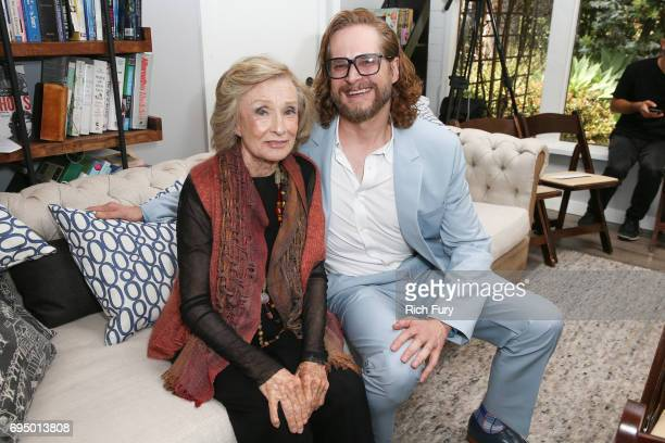 Actor Cloris Leachman and screenwriter Bryan Fuller attend the PETA Fundraising Event at Private Residence on June 11 2017 in Malibu California
