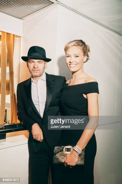 Actor Clovis Cornillac and his wife Lilou Fogli are photographed for Self Assignment on May 20 2017 in Cannes France