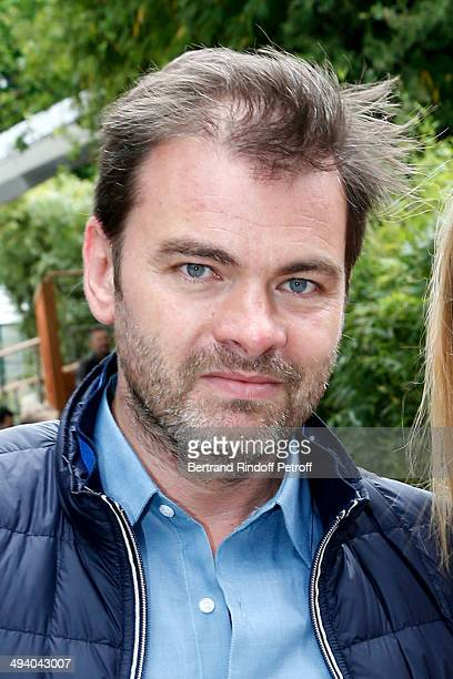 Actor Clovis Cornillac attends the Roland Garros French Tennis Open 2014 Day 3 on May 27 2014 in Paris France