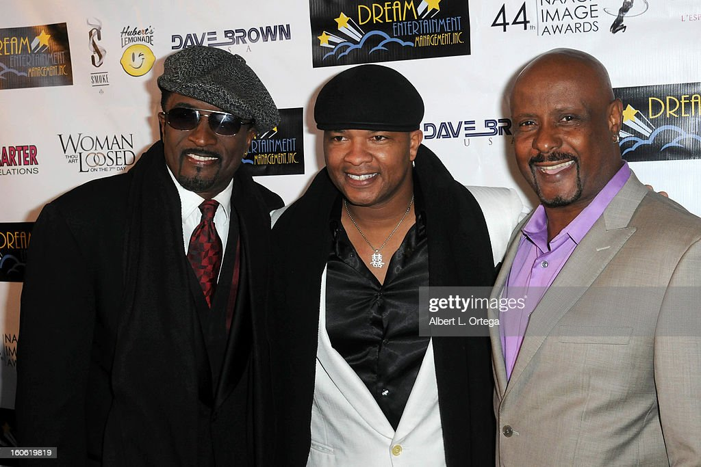 Actor Clyde R. Jones, director Joseph Stephens and producer Garret Davis arrive for the NAACP Image Awards Nomination Party featuring 'Woman Thou Art Loosed On THe 7th Day' for Best Independent Motion Picture held at Smoke on January 26, 2013 in West Hollywood, California.