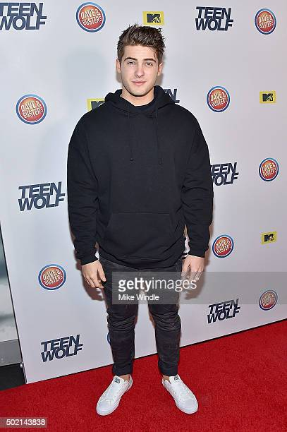 Actor Cody Christian attends the MTV Teen Wolf Los Angeles premiere party at Dave Busters on December 20 2015 in Hollywood California