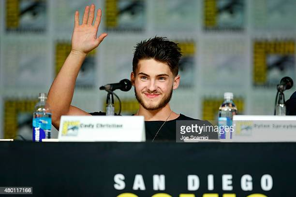 Actor Cody Christian speaks onstage at MTV's 'Teen Wolf' panel during ComicCon International 2015 at the San Diego Convention Center on July 9 2015...