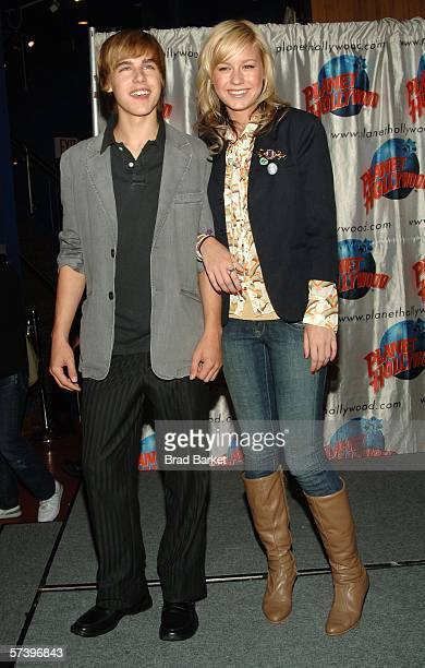 Actor Cody Linley and Brie Larson arrive at New Line Cinema's 'The Stars of Hoot' at Planet Hollywood on April 21 2006 in New York City