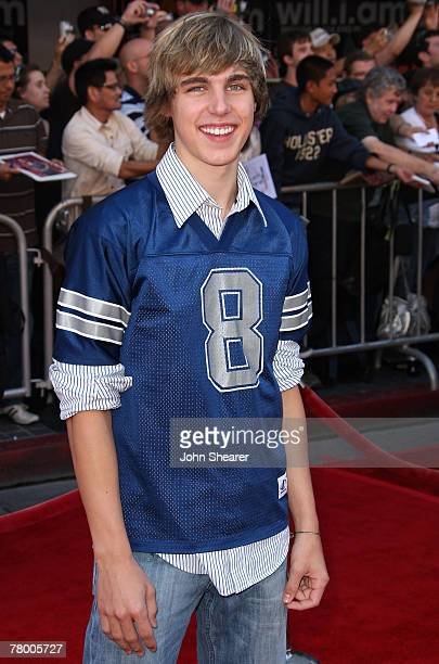 Actor Cody Linley arrives at the world premiere of 'The Game Plan' at the El Capitan Theatre on September 23 2007 in Hollywood California