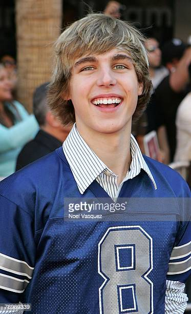 Actor Cody Linley attends the premiere of Walt Disney's 'The Game Plan' at the El Capitan Theatre September 23 2007 in Los Angeles California