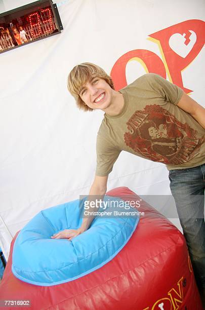 Actor Cody Linley poses at the Operation Rescue Kit game Mobile Rescue Unit booth at the State Fair of Texas at Fair Park on October 13 2007 in...