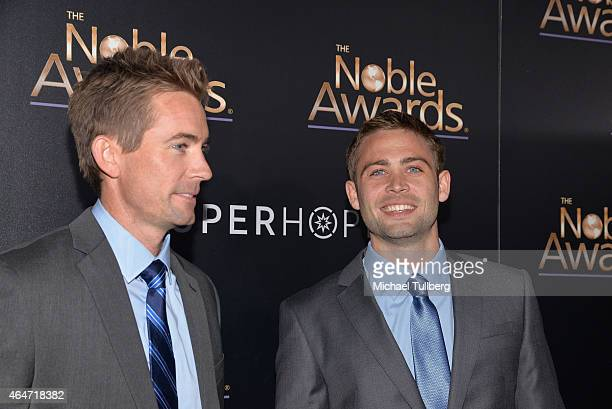 Actor Cody Walker and brother Caleb Walker attend the 3rd Annual Noble Awards at The Beverly Hilton Hotel on February 27 2015 in Beverly Hills...