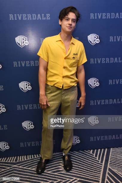 Actor Cole Sprouse poses during a photocall to promote Riverdale Tv Series at Four Season Hotel on April 06 2017 in Mexico City Mexico
