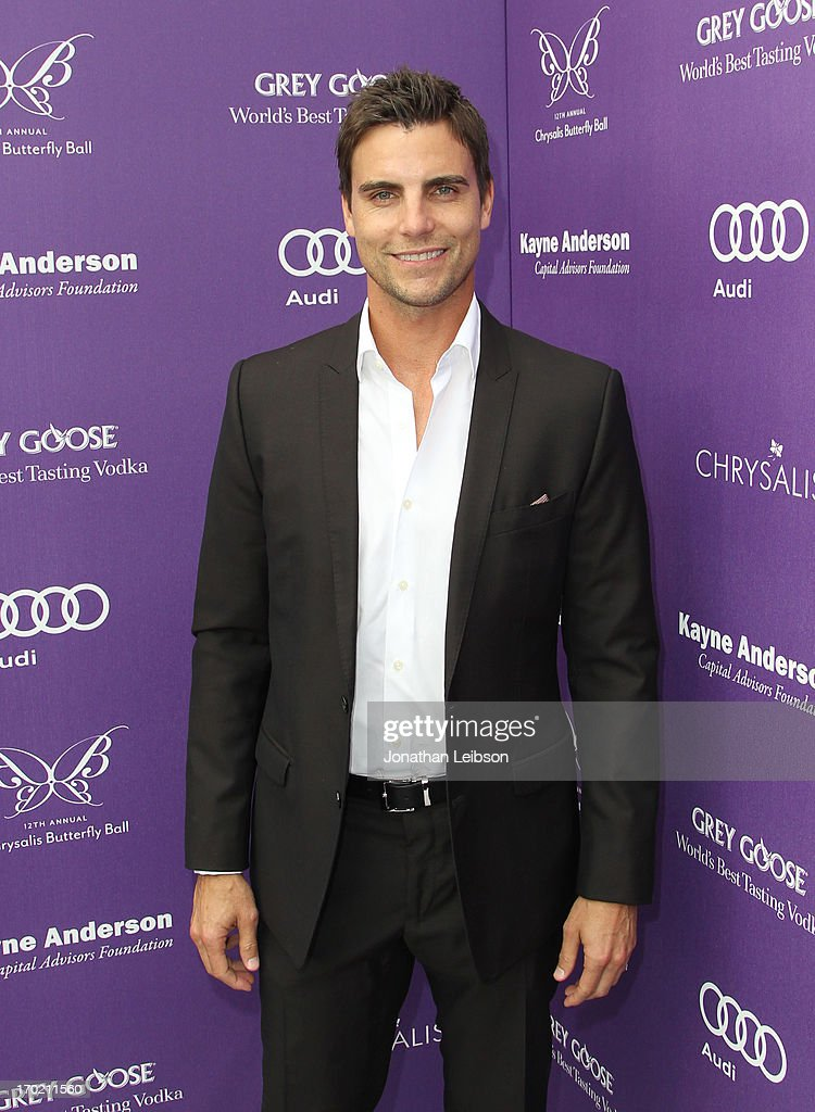 Actor <a gi-track='captionPersonalityLinkClicked' href=/galleries/search?phrase=Colin+Egglesfield&family=editorial&specificpeople=584090 ng-click='$event.stopPropagation()'>Colin Egglesfield</a> arrives at the 12th Annual Chrysalis Butterfly Ball on June 8, 2013 in Los Angeles, California.