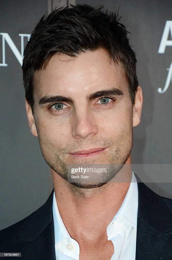 Actor <a gi-track='captionPersonalityLinkClicked' href=/galleries/search?phrase=Colin+Egglesfield&family=editorial&specificpeople=584090 ng-click='$event.stopPropagation()'>Colin Egglesfield</a> arrives at the Giorgio Armani party to celebrate Paris Photo Los Angeles Vernissage opening night at Paramount Studios on April 25, 2013 in Hollywood, California.
