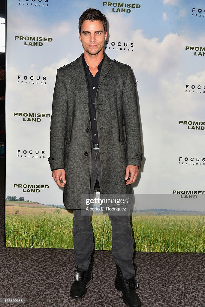Actor Colin Egglesfield arrives to the premiere of Focus Features' 'Promised Land' at the Directors Guild Of America on December 6, 2012 in Los Angeles, California.