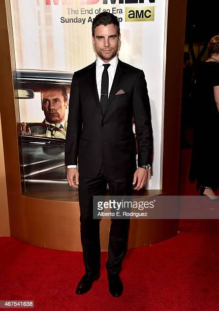 Actor Colin Egglesfield attends the AMC celebration of the final 7 episodes of 'Mad Men' with the Black Red Ball at the Dorothy Chandler Pavilion on...