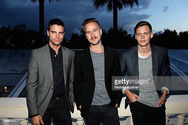 Actor Colin Egglesfield director Andreas Ohman and Bill Skarsgard attend a benefit held by Mammoth Entertainment and LyonHeartLove Foundation to...