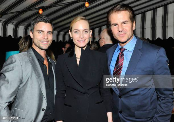 Actor Colin Egglesfield model Amber Valletta and actor Vincent De Paul attend the W Magazine celebration of The 'Best Performances' Portfolio and The...