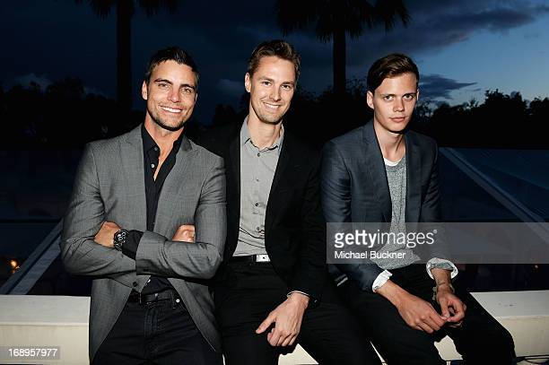 Actor Colin Egglesfield Todd Courtney and Bill Skarsgard attend a benefit held by Mammoth Entertainment and LyonHeartLove Foundation to protect...