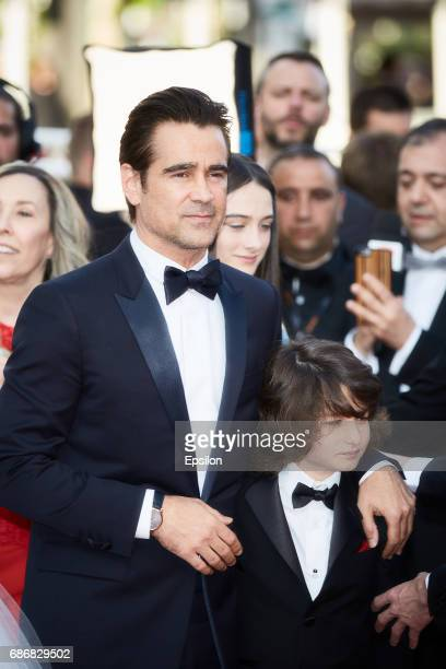 Actor Colin Farrell actor Sunny Suljic attend the 'The Killing Of A Sacred Deer' screening during the 70th annual Cannes Film Festival at Palais des...