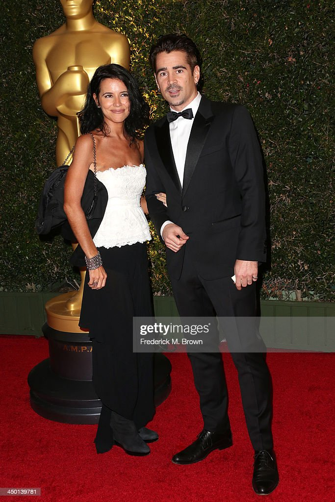 Actor <a gi-track='captionPersonalityLinkClicked' href=/galleries/search?phrase=Colin+Farrell&family=editorial&specificpeople=202154 ng-click='$event.stopPropagation()'>Colin Farrell</a> and Claudine Farrell arrives at the Academy of Motion Picture Arts and Sciences' Governors Awards at The Ray Dolby Ballroom at Hollywood & Highland Center on November 16, 2013 in Hollywood, California.
