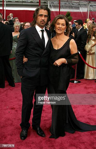 Actor Colin Farrell and his mother Rita Farrell arrive at the 80th Annual Academy Awards held at the Kodak Theatre on February 24 2008 in Hollywood...