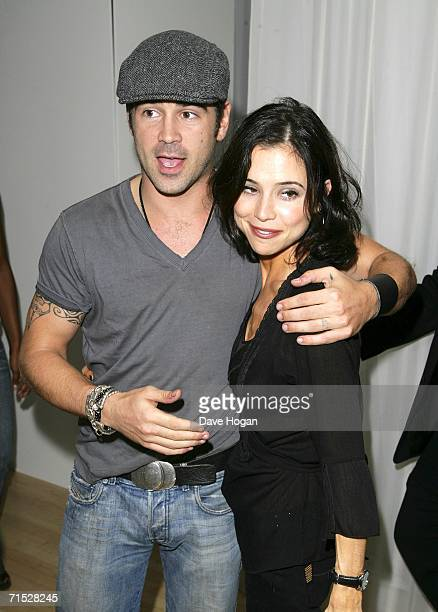 Actor Colin Farrell and his sister Claudine arrive at the after party following the European premiere of ''Miami Vice'' at Sanderson Hotel on July 27...